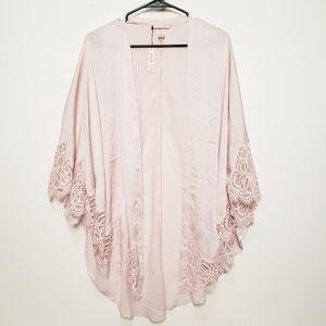 Victoria's Secret Light Pink Lace Trim Kimono NWT